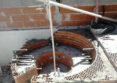Jacuzzi, creación de estructura y sistema de tuberías