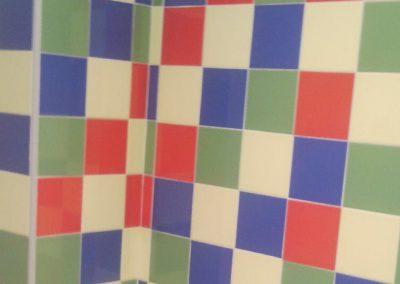 Alicatado cocina azulejos de colores