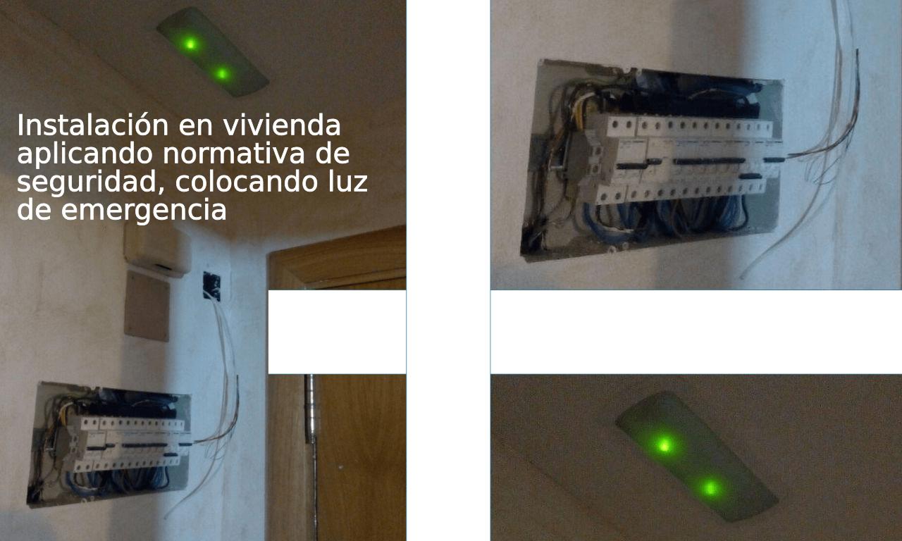 Cuadro eléctrico con iluminación de emergencia