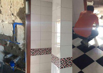 Instalación fontanería cocina, alicatado y solado de cocina